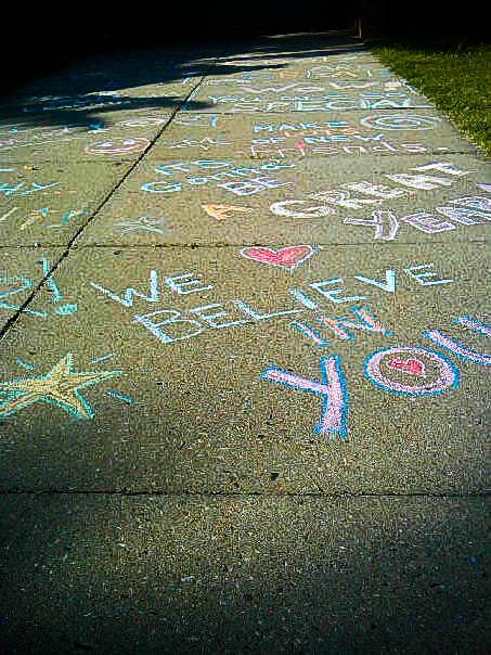 guerrilla goodness sidewalk chalk love it�s back